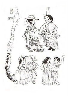 Dibujos De Bailes Tradicionales De Chile