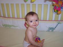Addison in the crib