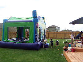Jumping Castle at Preston's B-day
