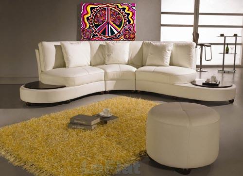 Leather Living Room Design