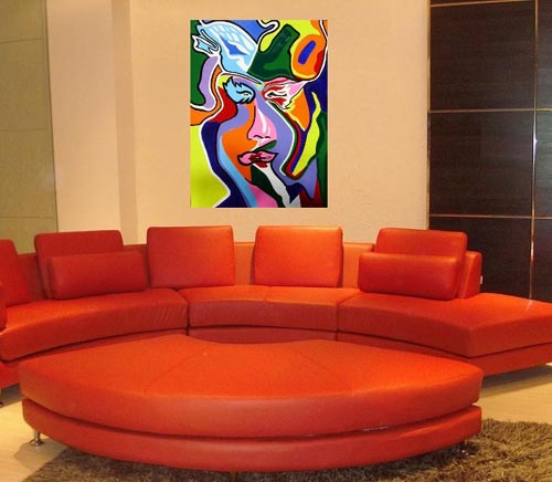 Places of decor ricardo gomez painting home interior for Interior room painting ideas