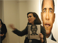 Anne Goodyear lectures on the Obama Photo