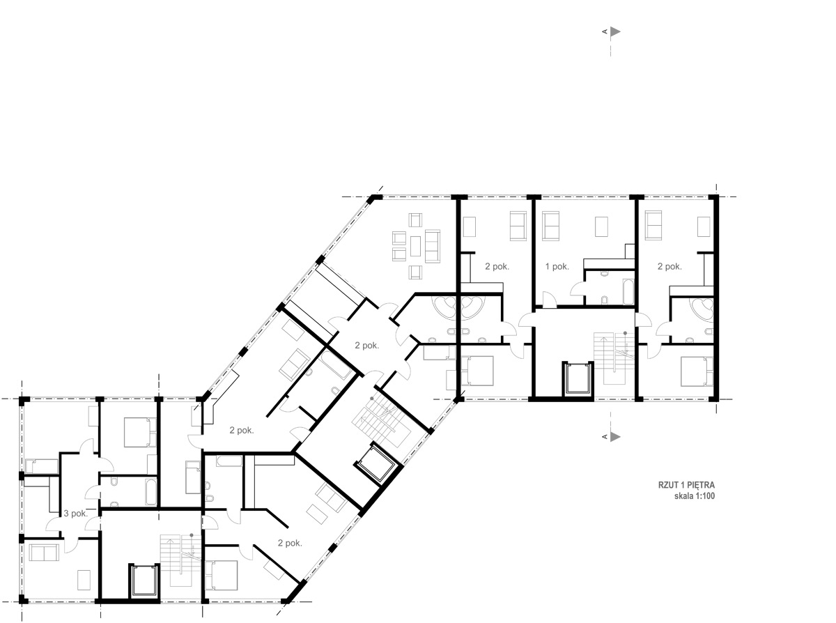 Archidoom multi unit residential week 5th floor plans for Multi unit floor plans