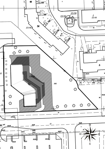 Archidoom multi unit residential 4th week site plan for Residential site plan