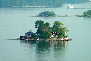 Sweden cottage island