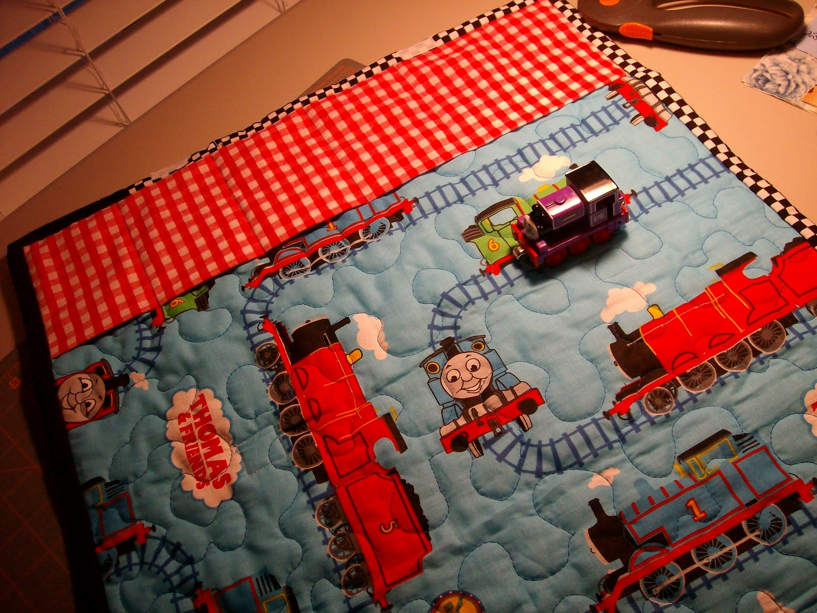 Angel Scraps Quilting Thomas The Train Quilted Travel