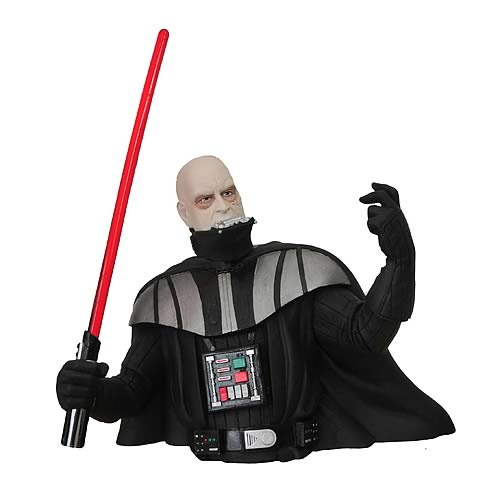 Star wars darth vader unmasked banco busto