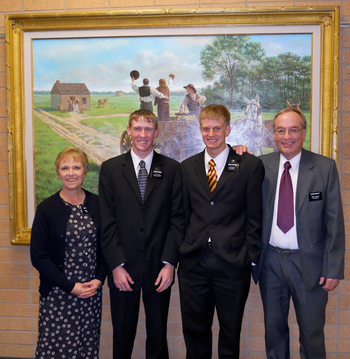 With Elder Bevans and Elder Brough