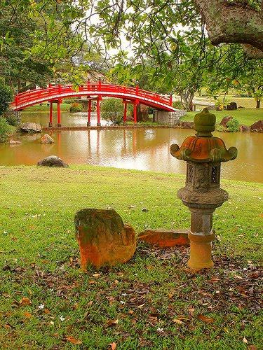 Camino hacia el puente el puente for Jardin chino