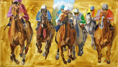 thoroughbred paintng
