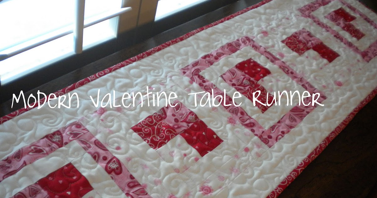 modern valentine table runner tutorial a quilting life