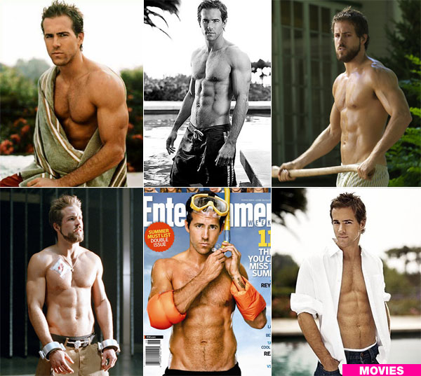 ryan reynolds body. makeup RYAN REYNOLDS SHIRTLESS