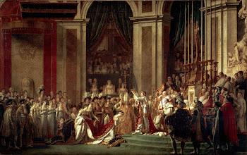 La coronacion de Napoleón Bonaparte