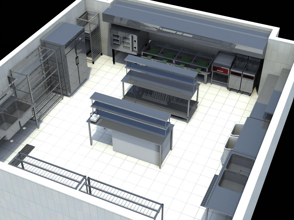 Dise o de restaurantes 3d investigacion cocina - Diseno de cocina 3d ...