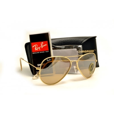 ray ban aviators gold frame black lens. New Ray-Ban Aviator sunglasses