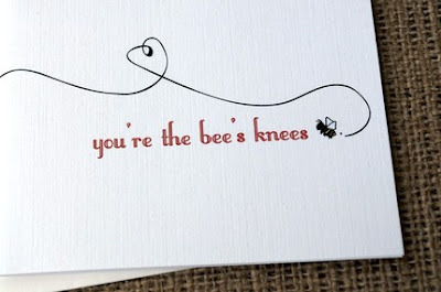 You're the Bee's Knees, etsy notecards