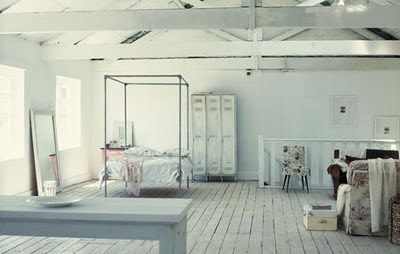 Loft, white room, bright room, dreamy loft