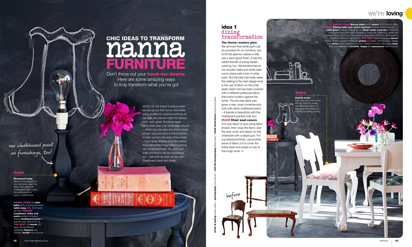 nanna furniture revamp styling shoot