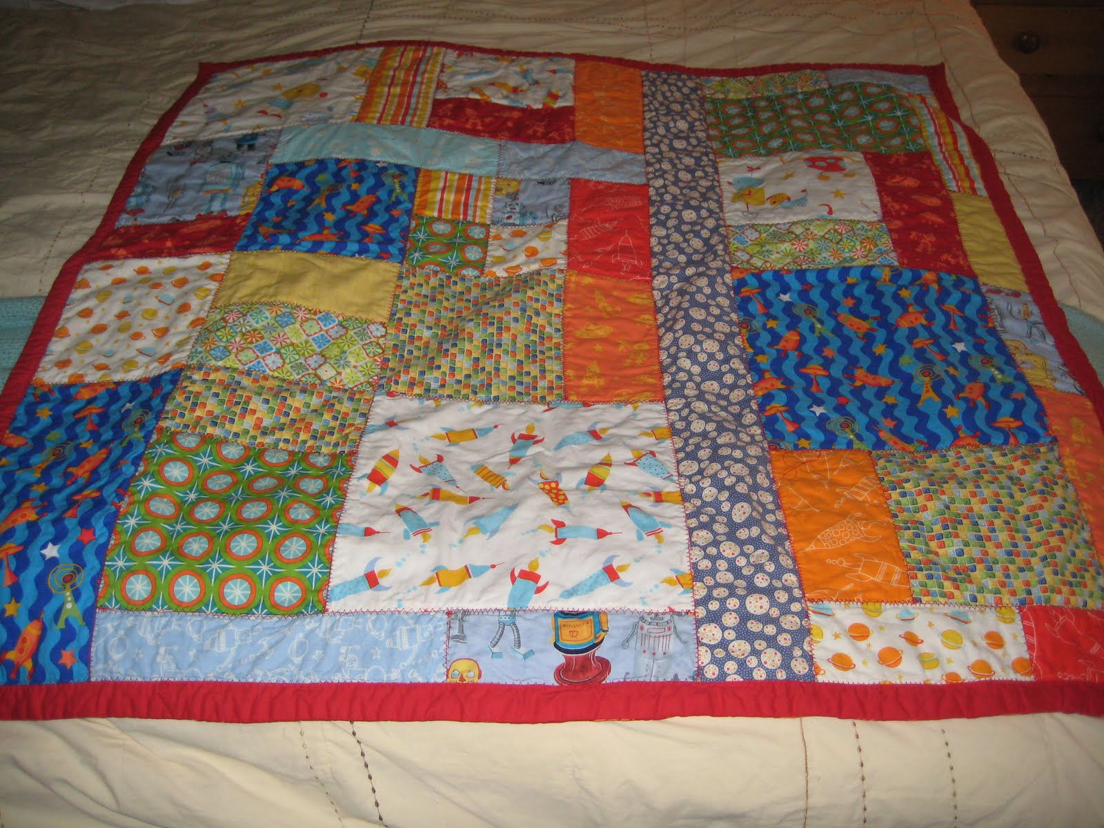 Life Is Sweet And Sour More Sewing For Baby My First Quilt