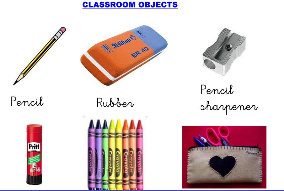 Blog de segundo curso classroom objects for 10 objetos del salon en ingles