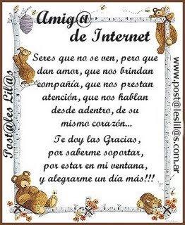 Amistad de internet