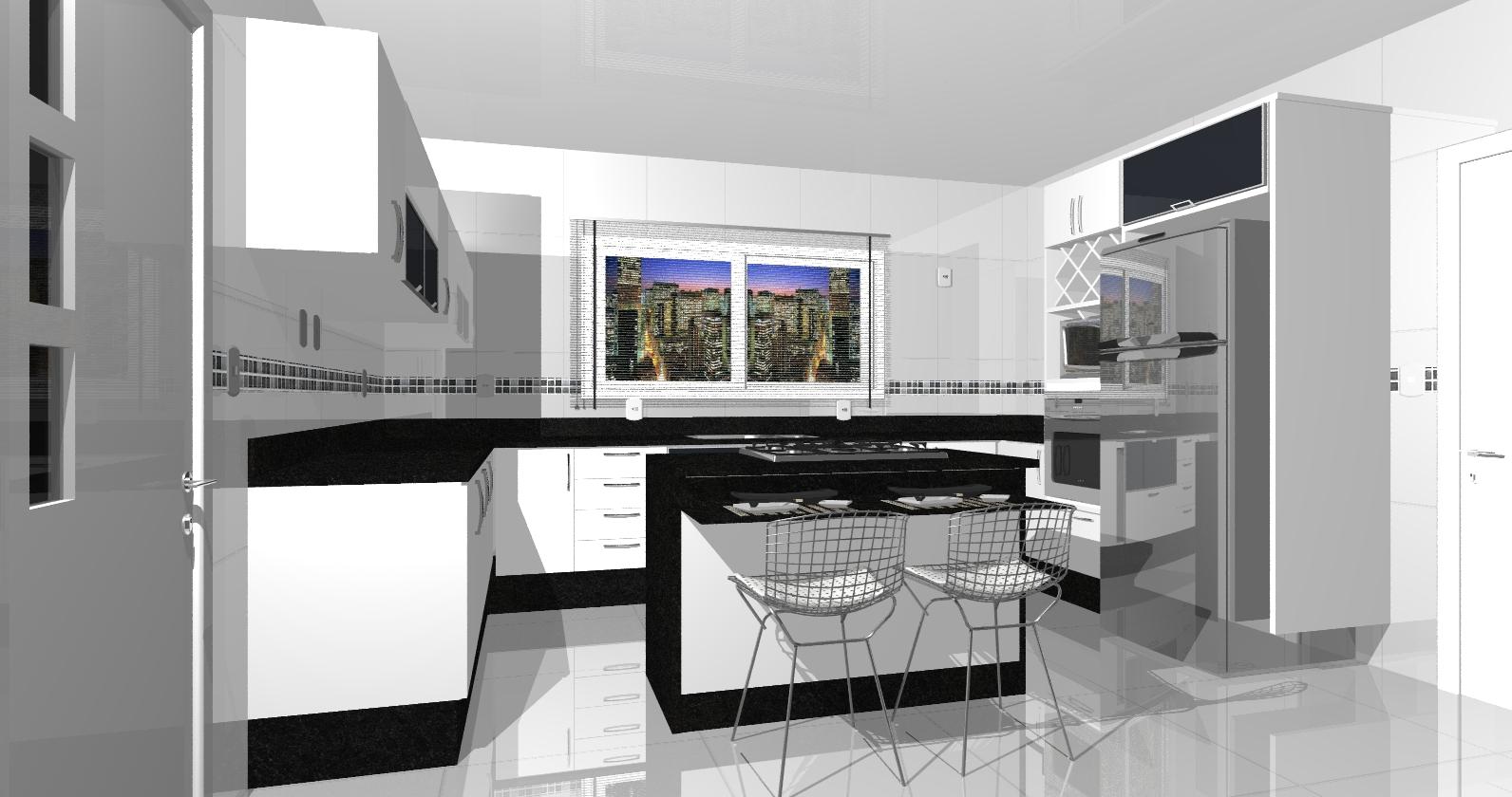 projetos de móveis: Projetos Home Cozinha Espaço Gourmet Área de  #334298 1592 840