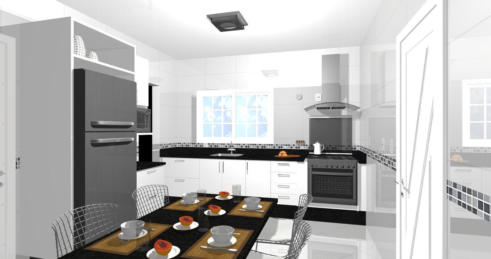 Projetos Home Cozinha Espaço Gourmet Área De Serviço Pictures #AC421F 1592 840