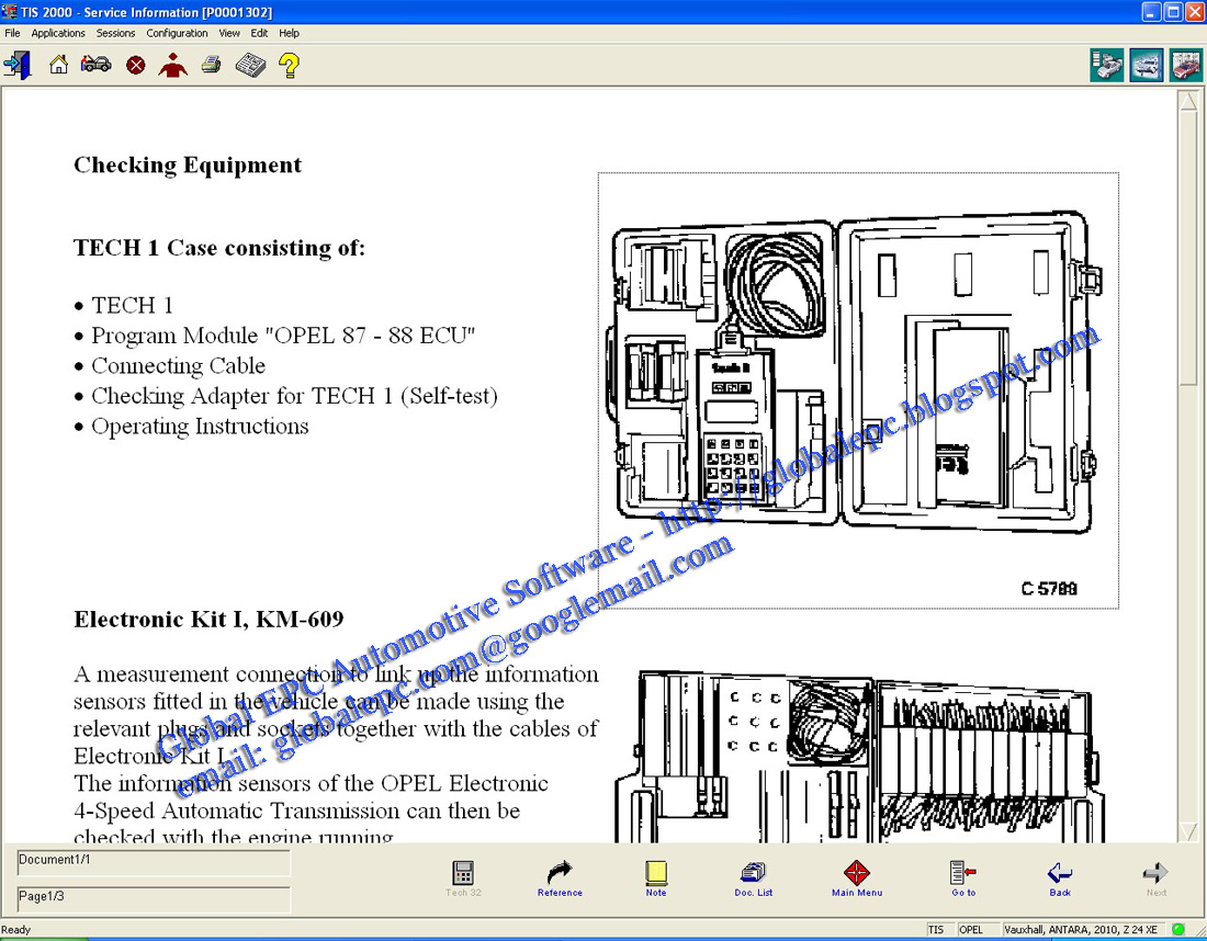 Global Epc Automotive Software  Opel Vauxhall Holden Tis2000 Tis 111 0 E 07  2010
