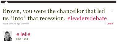 UK General Election 2010 #leadersdebate