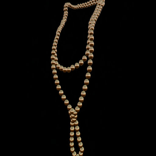 Copper Knotted & Long Pearl Necklace