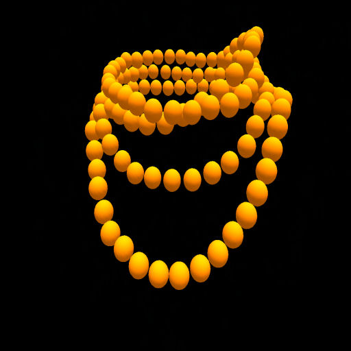 Deep Yellow Wrapped Bead Necklace