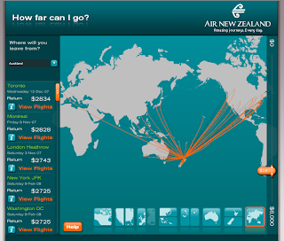 L'interface richmedia d'Air New Zealand