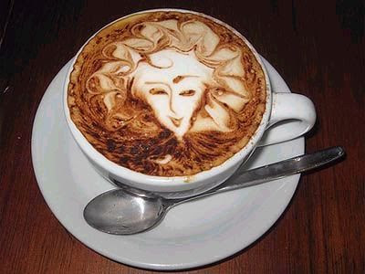 Arte en el café