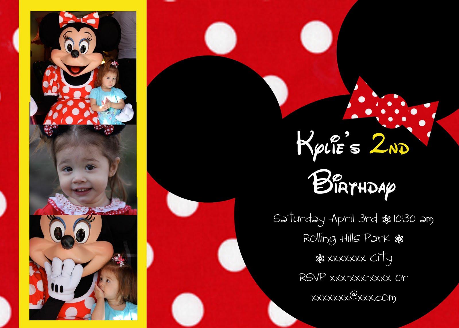 Janessa Castleberry: Minnie Mouse Birthday Invitations
