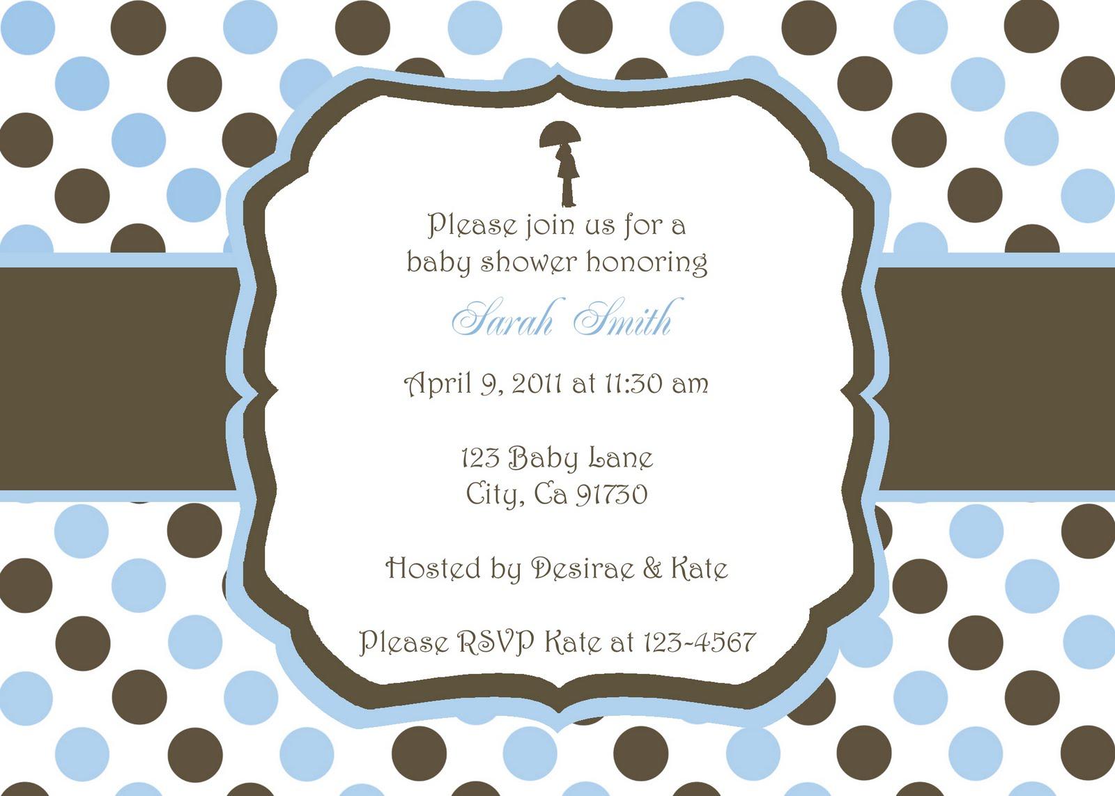 Baby Boy Shower Invitations Templates Free