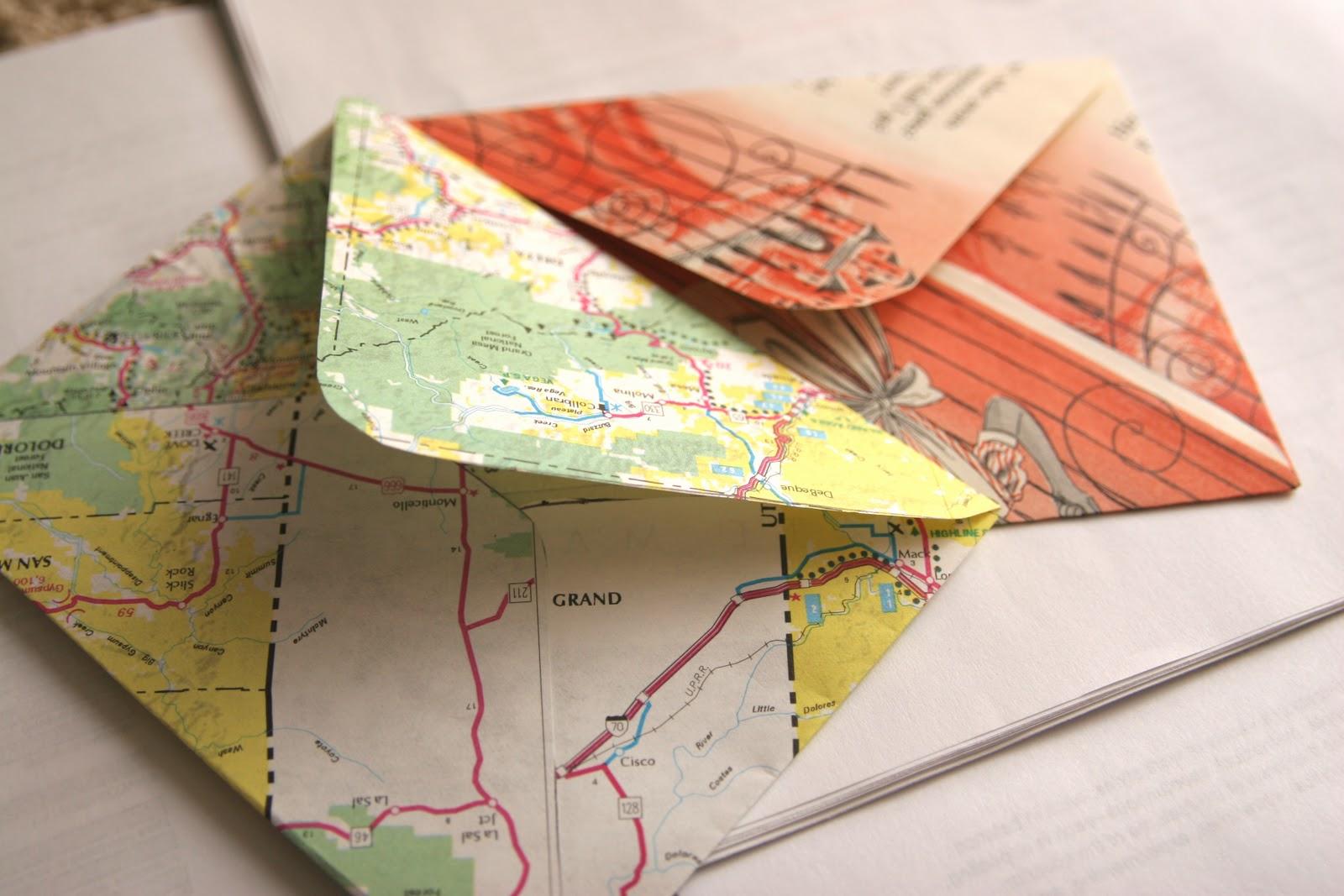 Scrapbook paper envelope - Indoor Activities Day 11 Handmade Recycled Cards Envelopes