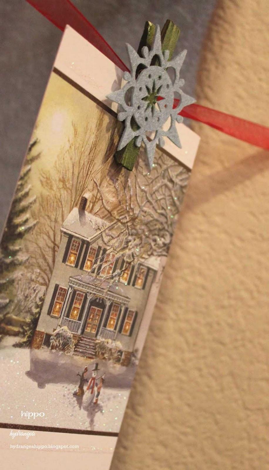 Easy Christmas Card Hanger - Hydrangea Hippo by Jennifer Priest