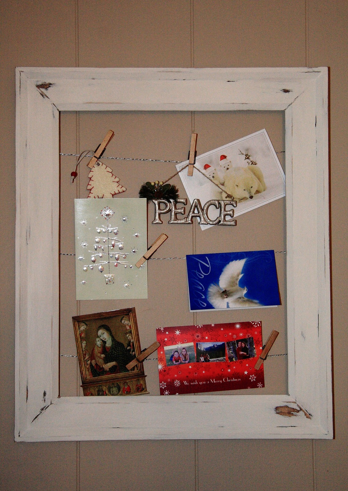 Pottery Barn Inspired Empty Frame Art & Card Display - Yellow Bliss Road