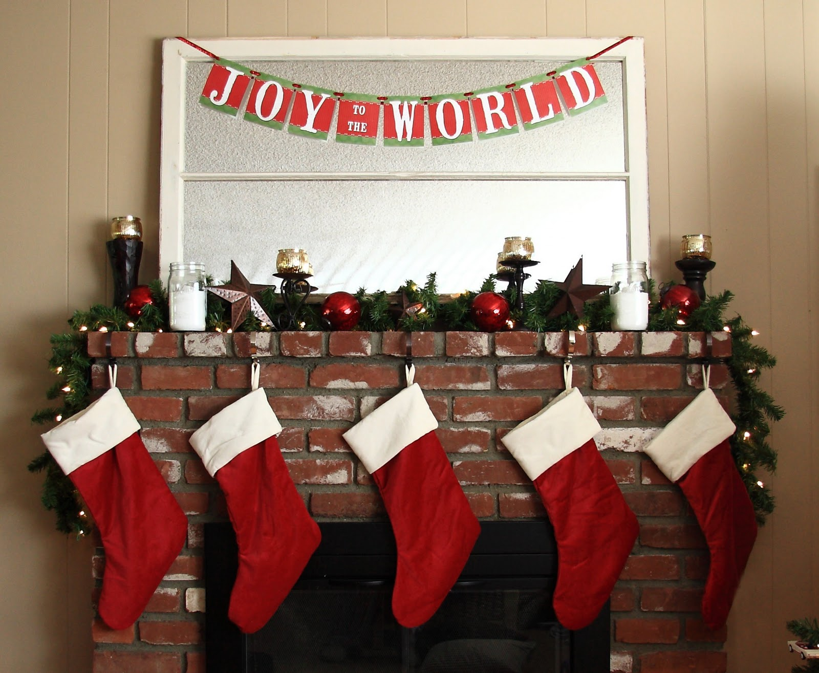 our christmas mantel yellow bliss road