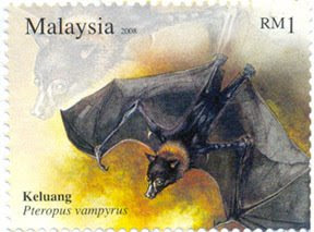 Nocturnal Animal RM1 Flying Fox Stamp