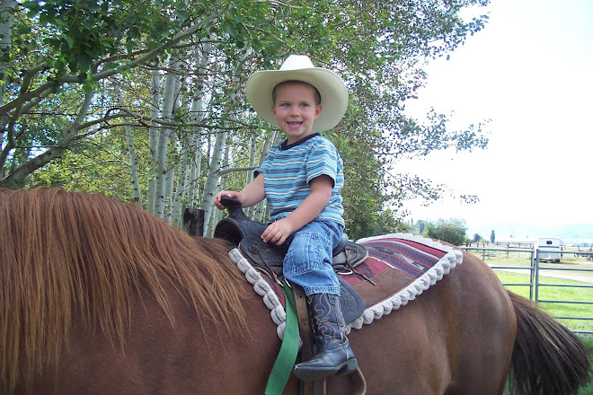 Little Cowboys wear big hats!