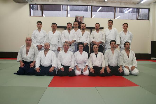 Cluj Napoca Mai 2009-Shihan Fukakusa si aikidoka din Bucuresti