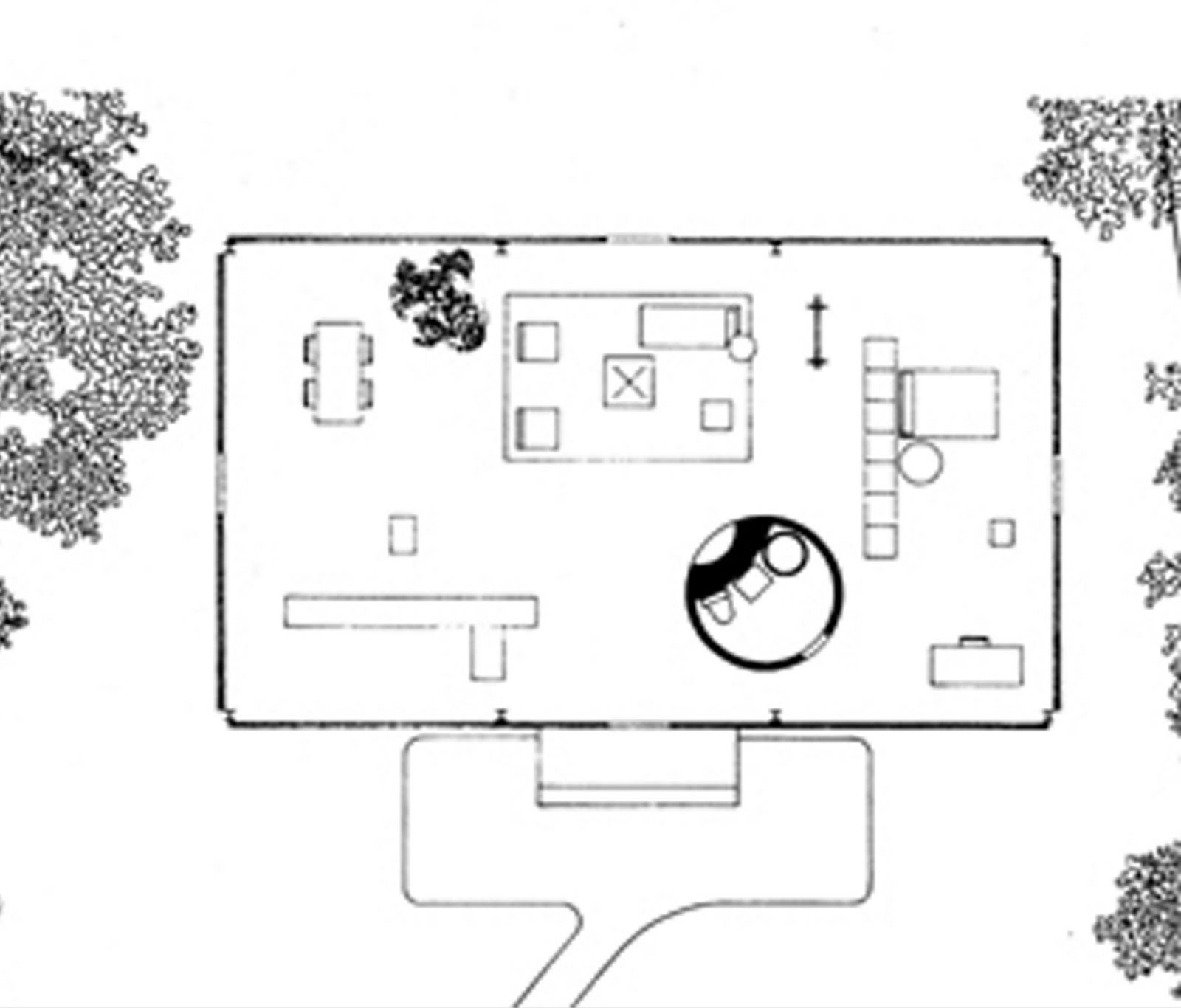 ShareMe - free Philip Johnson Glass House Floor Plan download