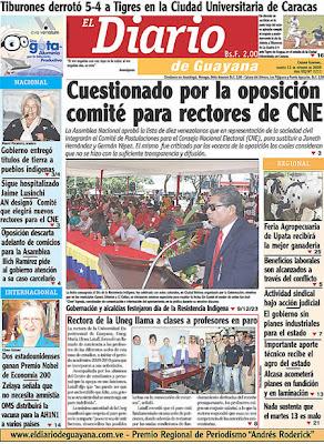 El Diario de Guayana (Bolívar) (13 de Octubre 2009)