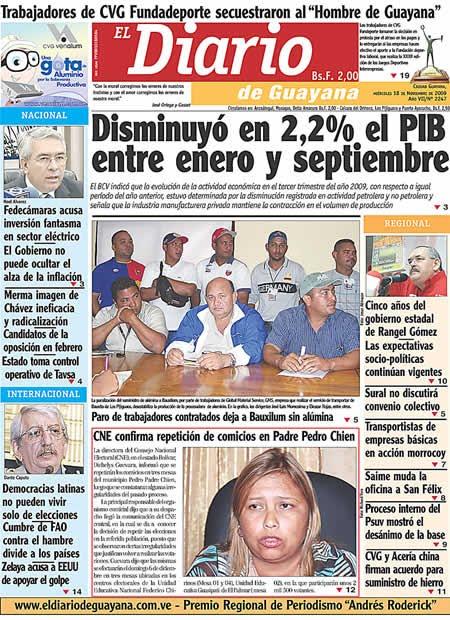 el diario de guayana bolivar