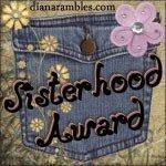 Sisterhood Award from Niena and Pah