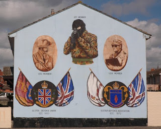 Ulster Freedom Fighters Mural at Belfast Estate Housing