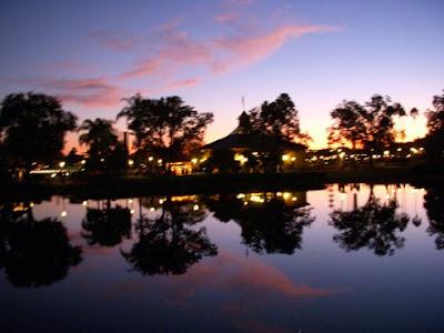 Epcot Lake at Sundown