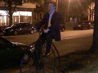 Tom Rides Edison's Bike