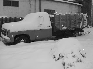 Truck Covered in Snow